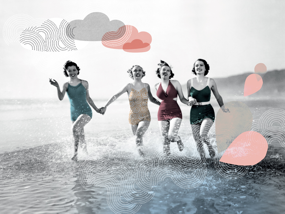 Image vintage beach