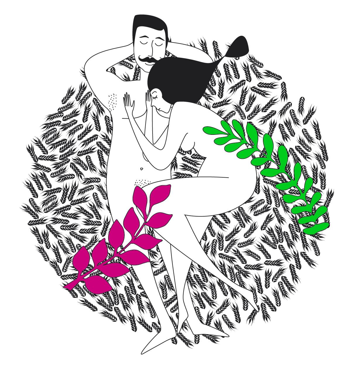 Illustration d'amoureux