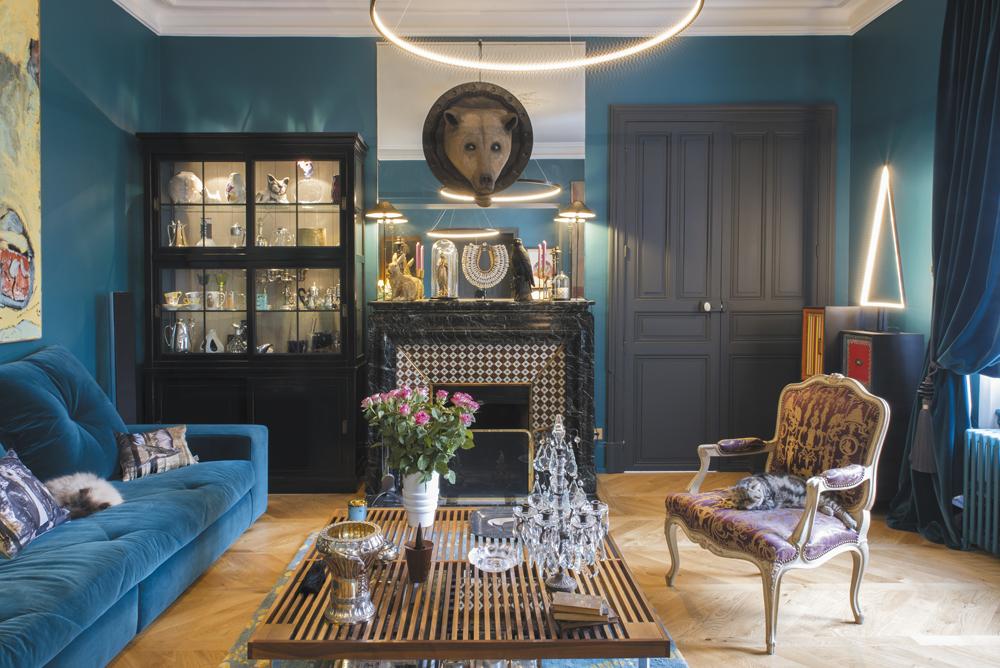 Photographie décoration bleue