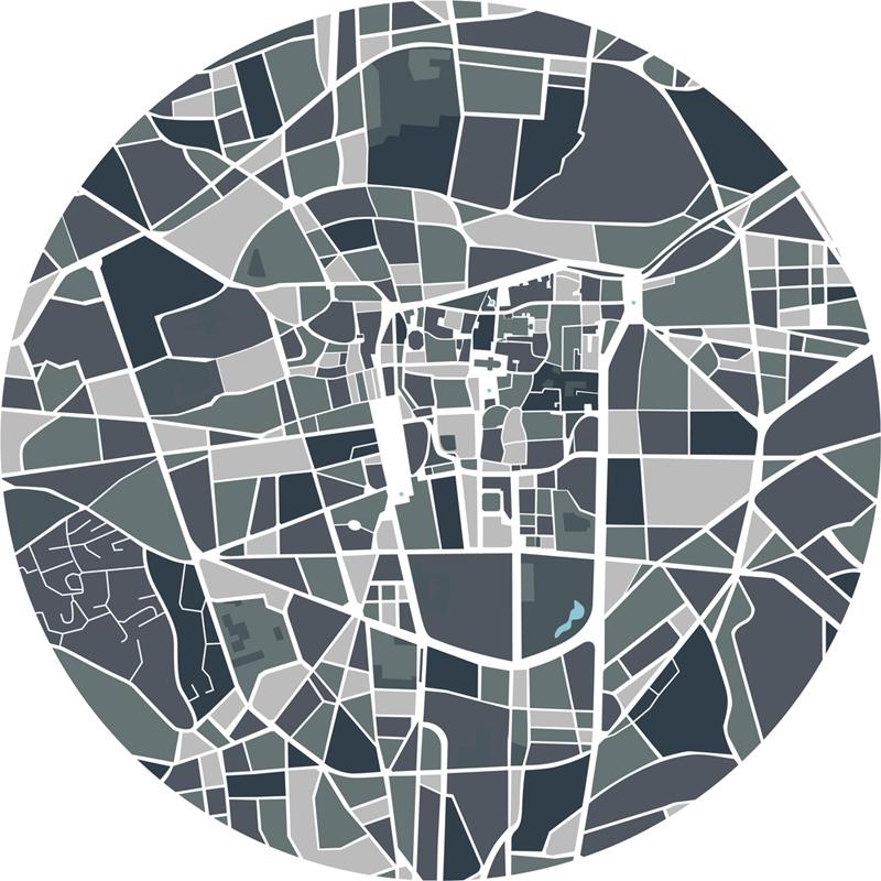 Décoration plan de ville